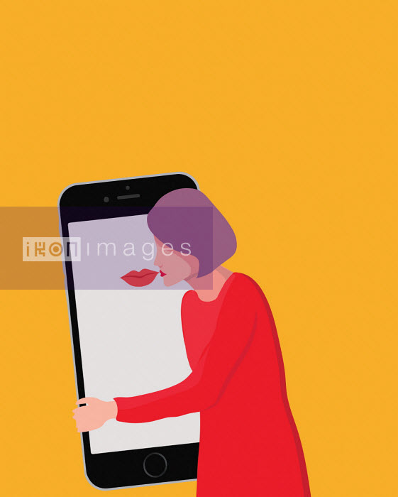 Annalisa Grassano - Woman kissing smart phone
