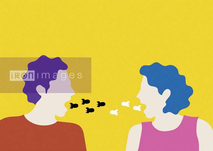 Annalisa Grassano - Couple arguing exchanging missiles