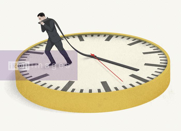 Hendrik Dahl - Businessman holding back the hands of time