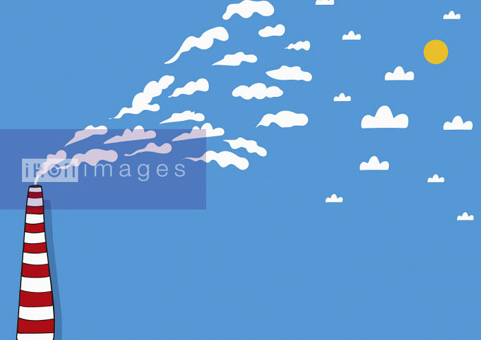 Oscar Armelles - White smoke from tall chimney
