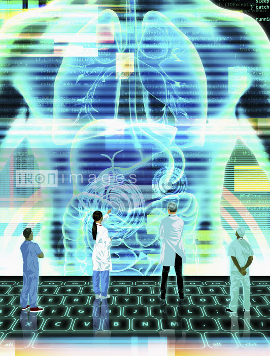 Futuristic doctors using digital technology for diagnosis - Taylor Callery
