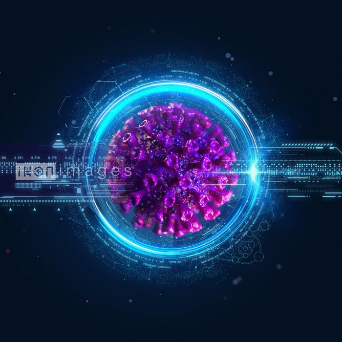 Computer generated coronavirus and digital technology - Oliver Burston