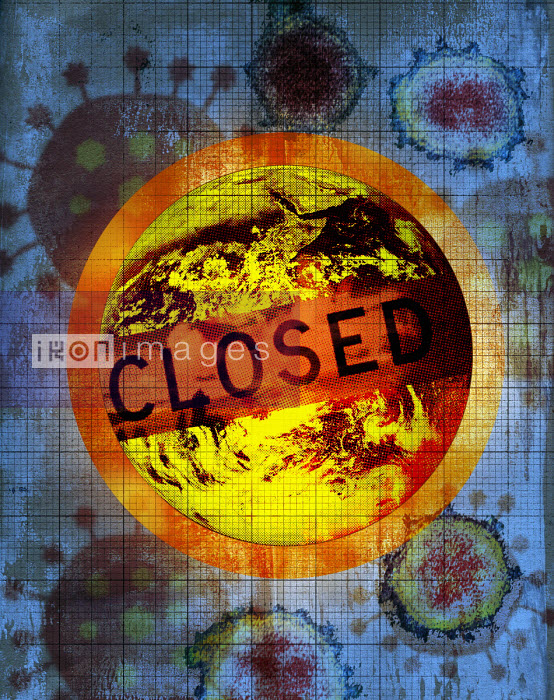 Closed sign over world due to coronavirus - Roy Scott