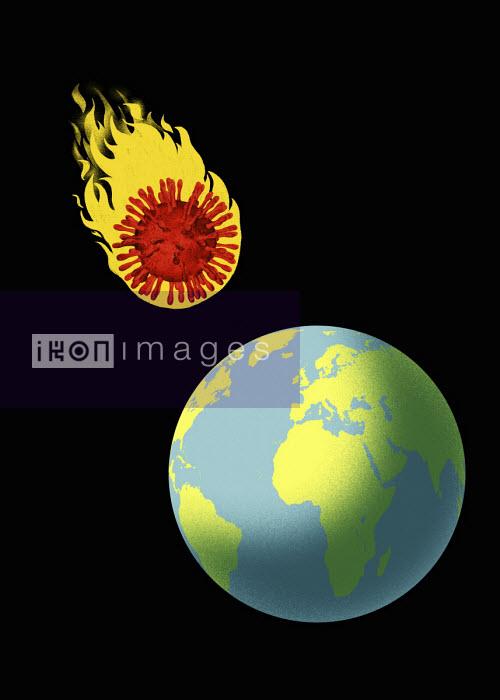 Coronavirus meteor heading for earth - Thomas Kuhlenbeck