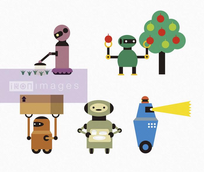 Robots doing jobs - Yenpitsu Nemoto
