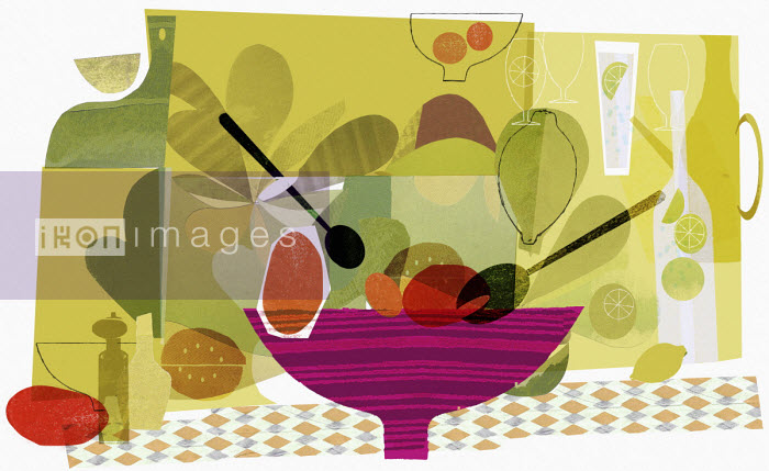 Healthy eating collage - Donna Grethen