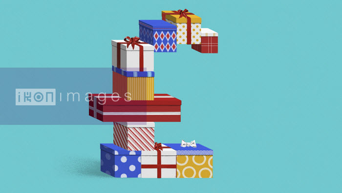 British pound shaped pile of presents - Valero Doval