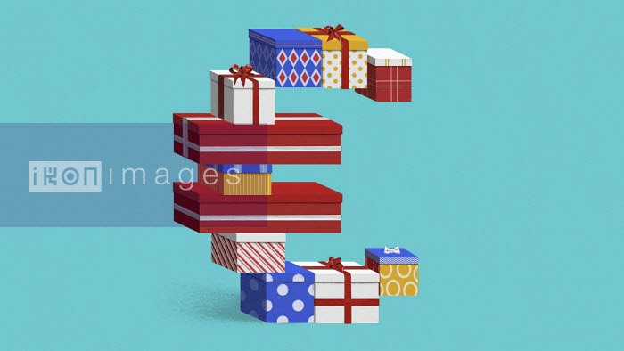 Euro shaped pile of presents - Valero Doval
