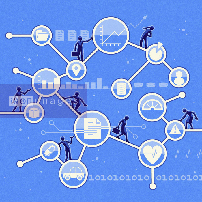 People using network of services online - Matt Kenyon