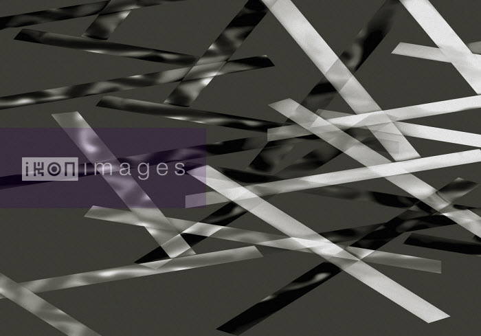 Abstract monochrome overlapping stripes - Gary Waters