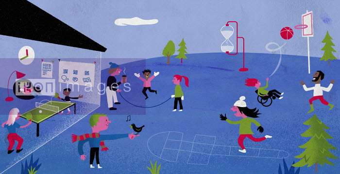Adults supervising children's play time - Jens Magnusson