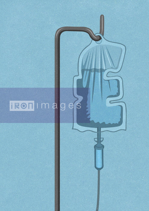 Pound sign shaped intravenous drip - John Holcroft