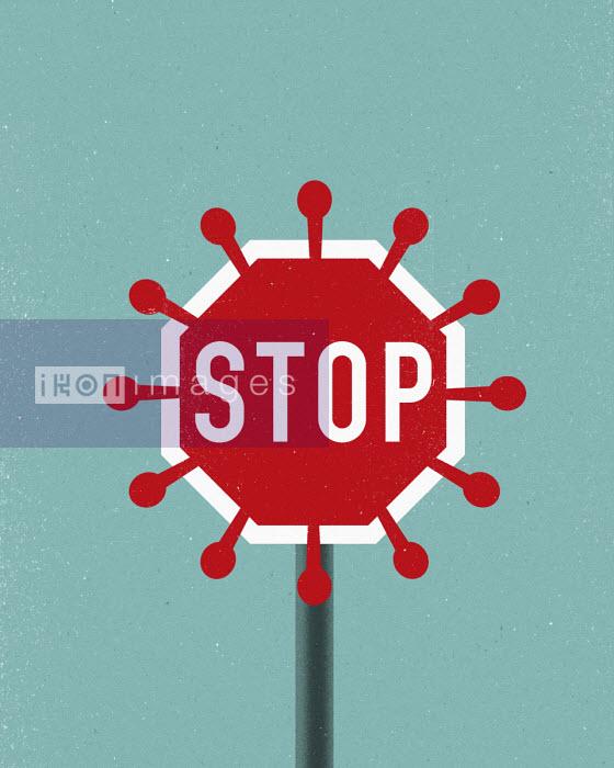 Coronavirus stop sign - Thomas Kuhlenbeck