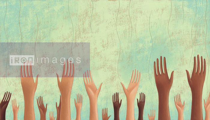 Hands reaching up to sky - Tommaso D'Incalci