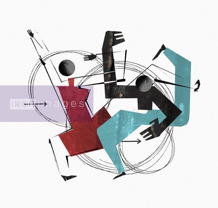 Couple dancing energetically - Eddie Edwards