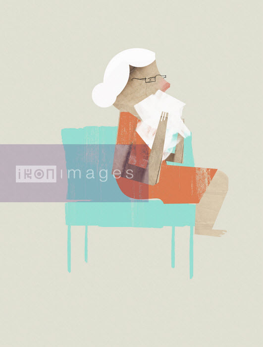 Elderly woman with a cold - Eddie Edwards