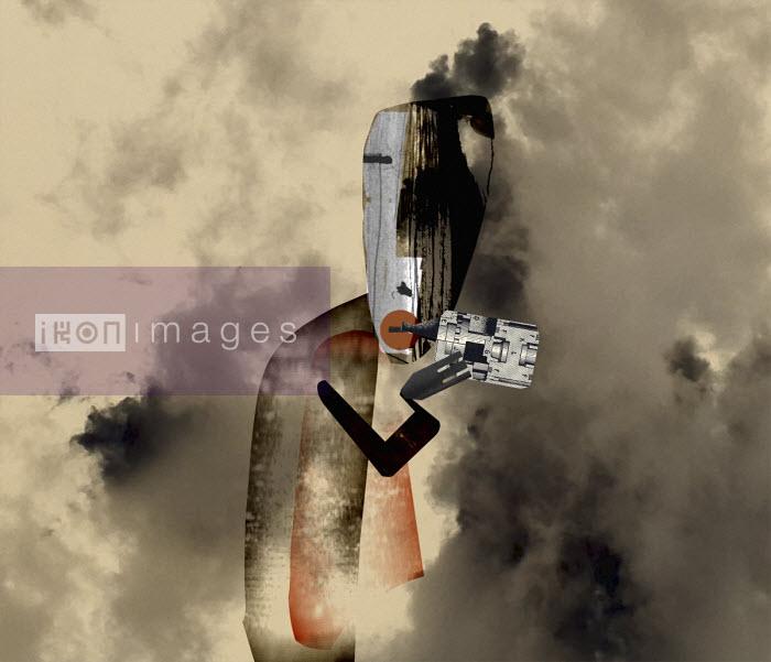 Thick smoke around man vaping - Eddie Edwards