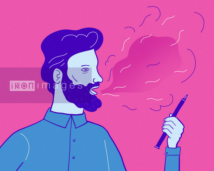 Man smoking using vape - Benjamin Baxter