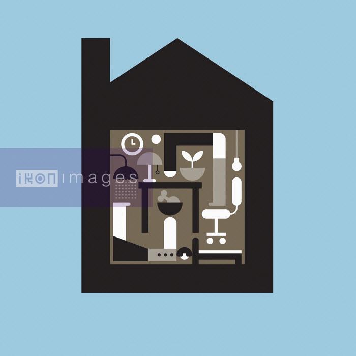 Geometric graphic of living in lockdown - Grundini