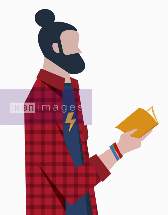 Hipster reading book - Verónica Grech