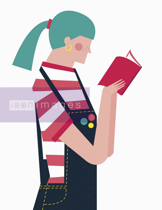 Teenage girl reading book - Verónica Grech