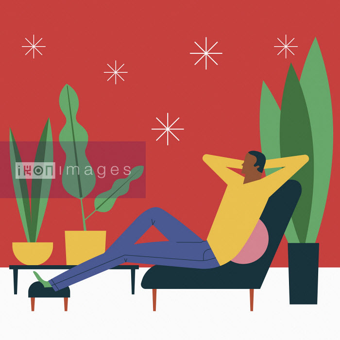 Man relaxing with feet up - Verónica Grech