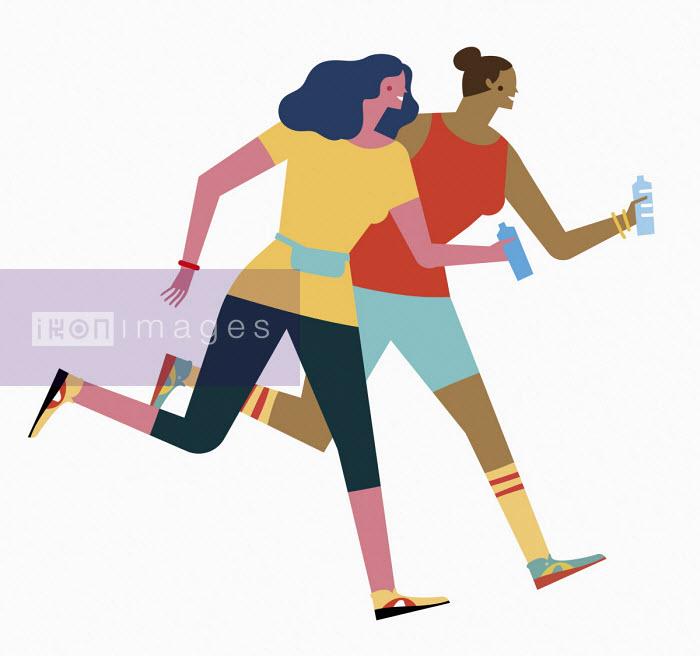 Friends running together - Verónica Grech