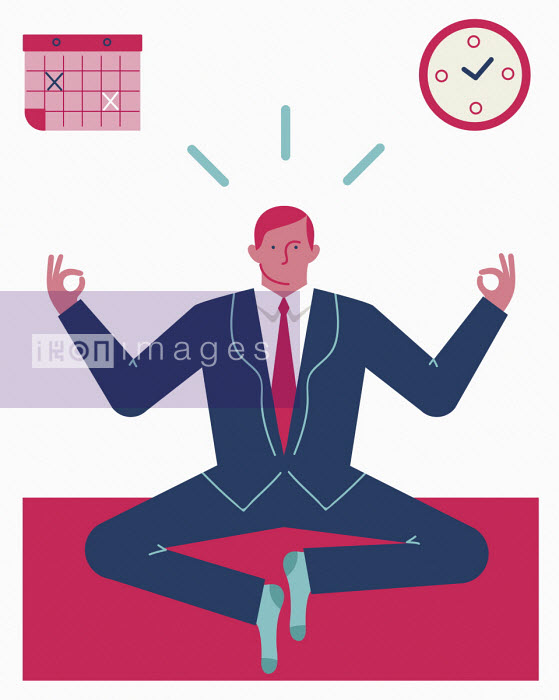Businessman trying yoga - Verónica Grech