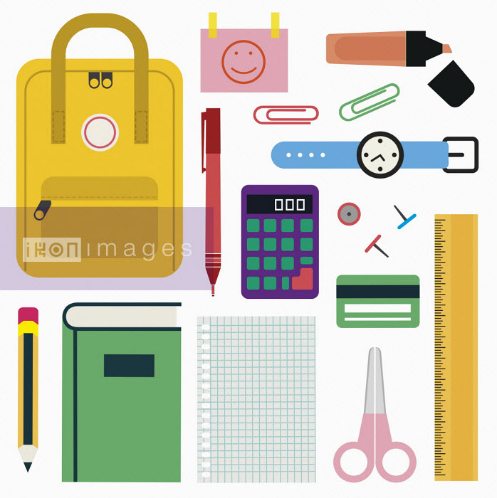 Backpack and school stationery - Verónica Grech