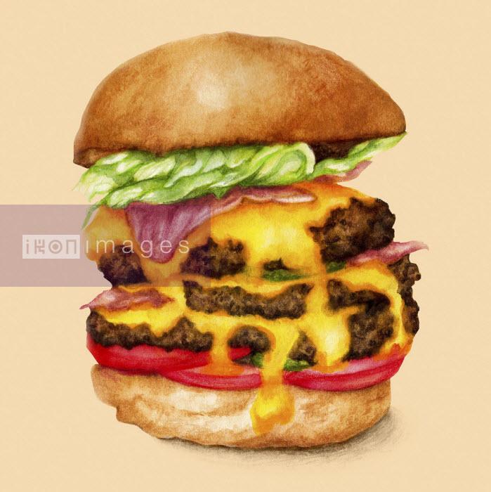 Large cheeseburger - Amanda Dilworth