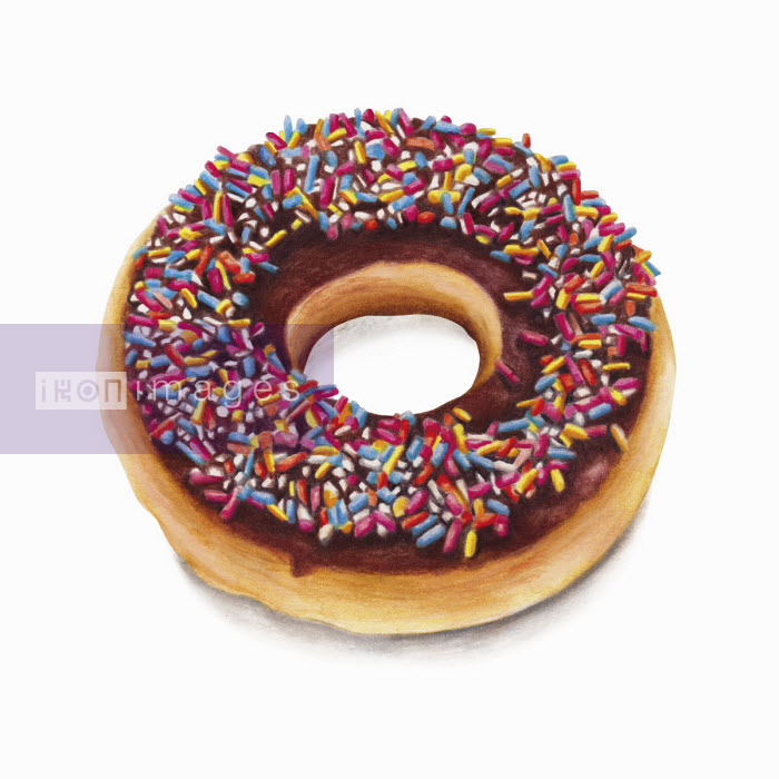 Iced doughnut with sprinkles - Amanda Dilworth
