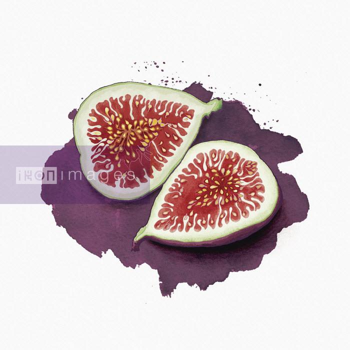 Halved fresh fig - Amanda Dilworth