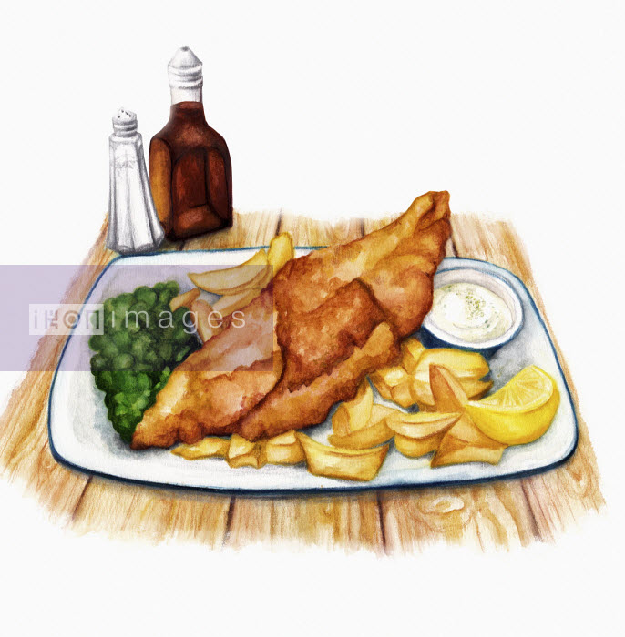 Traditional British fish and chips - Amanda Dilworth