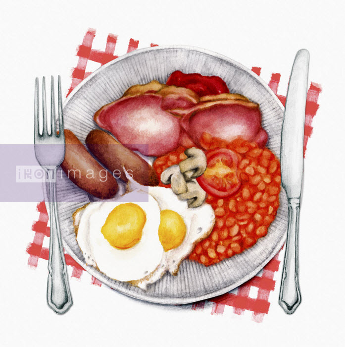 Traditional English fried breakfast - Amanda Dilworth