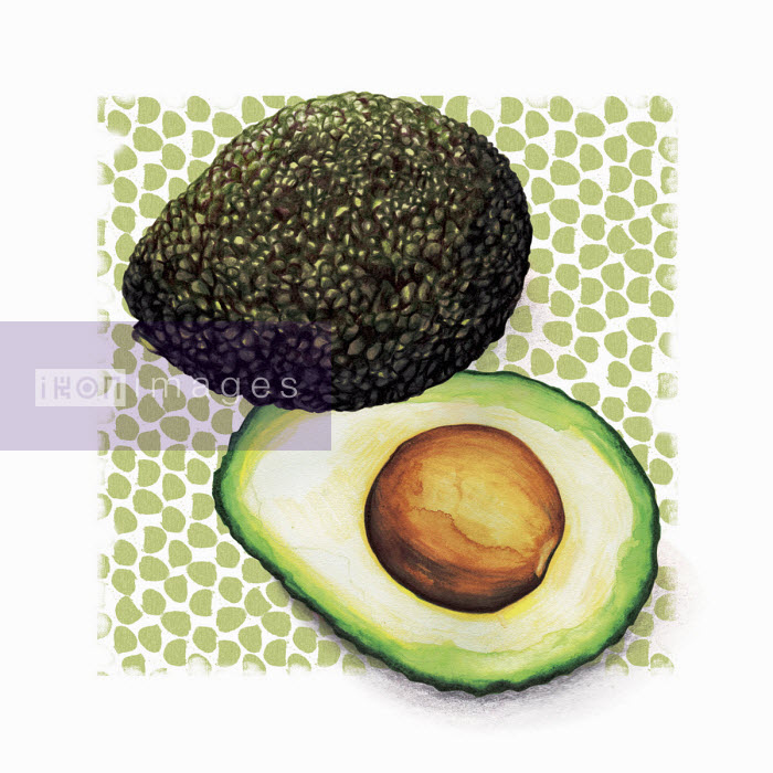 Avocado cut in half - Amanda Dilworth