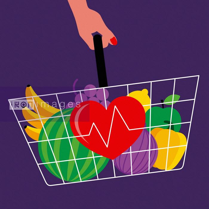 Healthy shopping basket - Patrick George