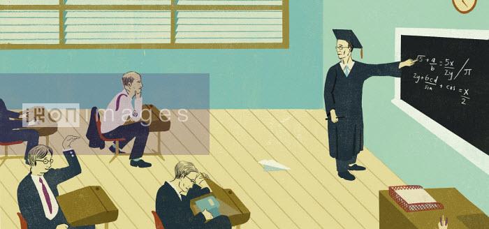Unruly businessmen in classroom - Daniel Haskett