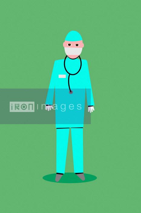 Doctor wearing personal protective equipment - Benjamin Harte
