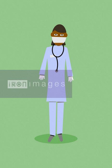 Nurse wearing personal protective equipment - Benjamin Harte