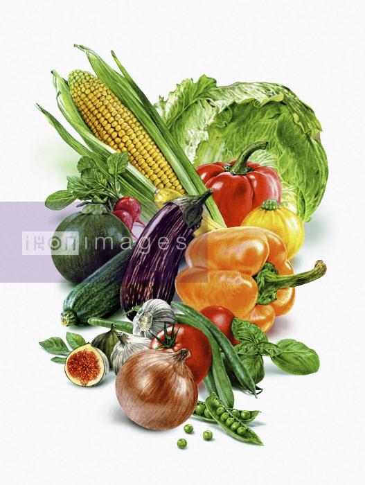 Fresh fruit and vegetables - Andrew Beckett