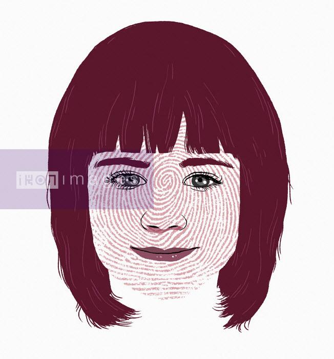 Fingerprint over girl's face - Rebecca Hendin