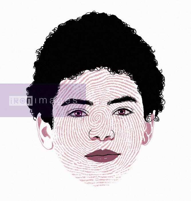 Fingerprint over boy's face - Rebecca Hendin