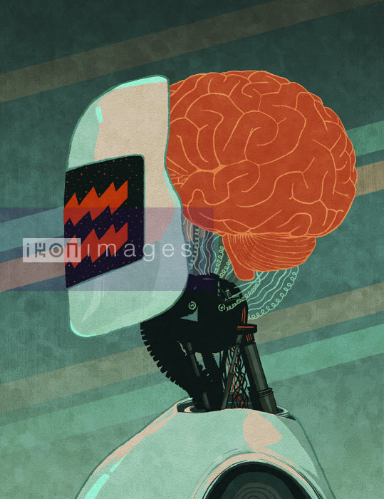 Android with human brain - Rebecca Hendin