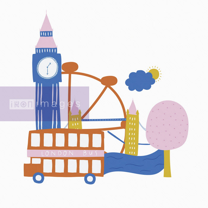 Montage of iconic London sights - Alice Potter