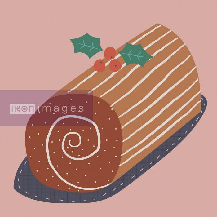 Christmas chocolate log - Alice Potter