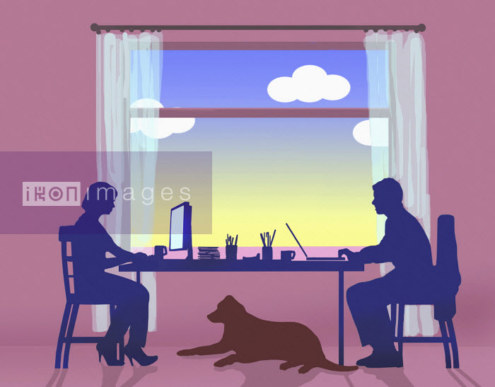 Couple working from home - Gary Waters