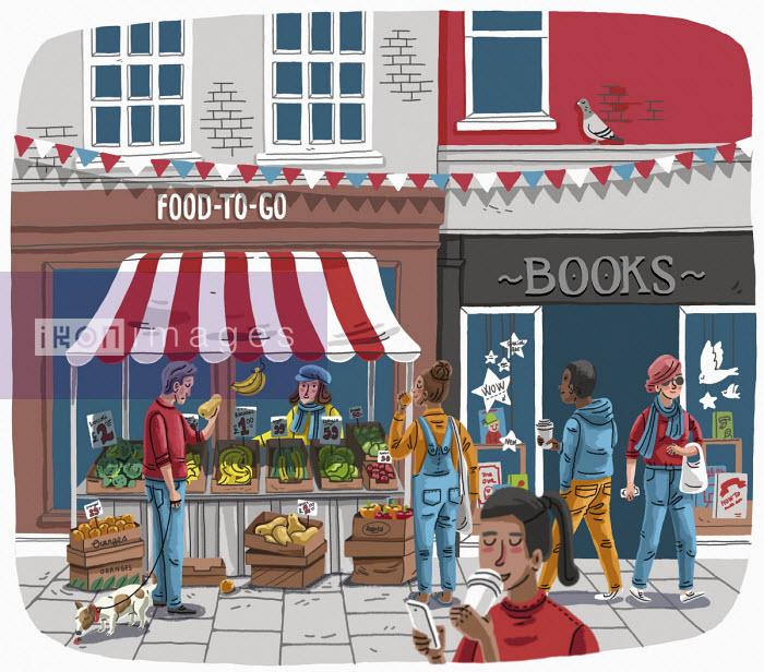People in shopping street - Elly Walton