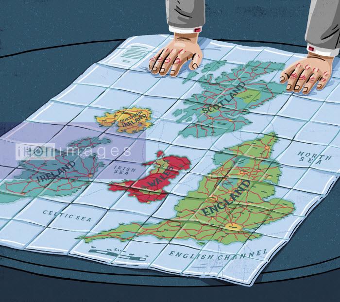 Map of British Isles split into separate countries - Eva Bee