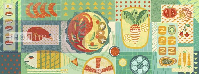 Montage of healthy food - Li Zhang