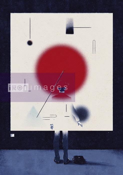 Man merging with a painting - Daniel Liévano